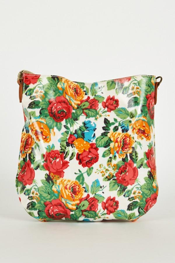 Floral Print Large Cross-Body Bag | Ladies Handbags UK U2013 Satchels Messenger And Cross-Body Bags ...
