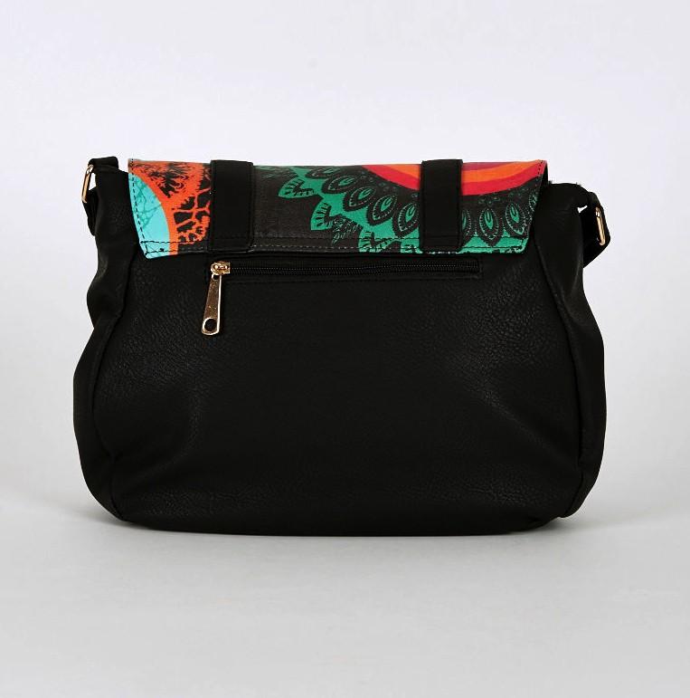 Multi Coloured Graphite Front Print Crossbody Bag School