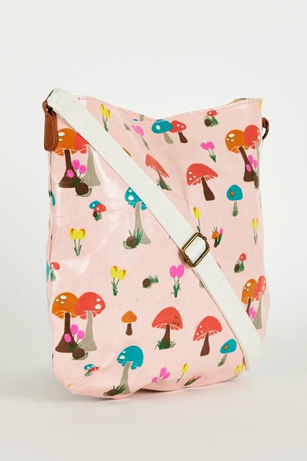 Mushroom Print Cross Bag