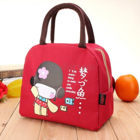 Portable Thermal Lunch Bag Insulated Cooler Box Handbag Food Storage Pouch Tote