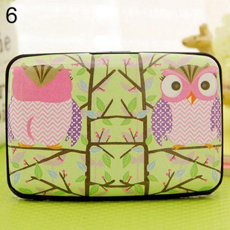 Beautiful peeking owl - CHARMING THIN OWL MULTILAYERS BAG POCKET ID CREDIT BUS CARD WALLET HOLDER CASE
