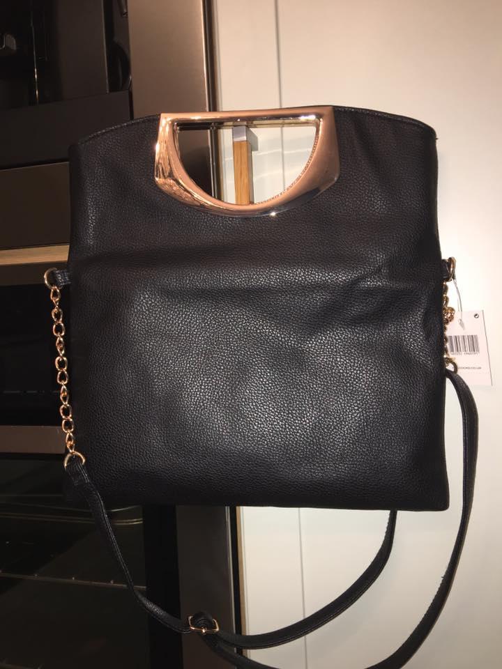 Womens Large Metal Handle Clutch Ladies Handbags Uk