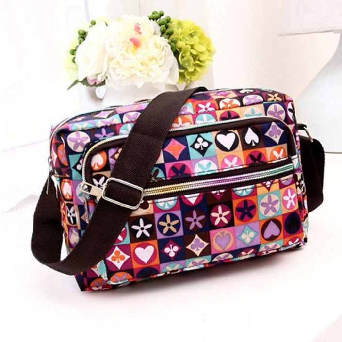 Women Nylon Crossbody Satchel Ladies Shoulder Handbag Purse Messenger Bag