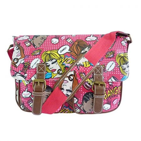 Anna Smith Comic Owl Pop Art Satchel Style Messenger Shoulder Bag Various Colours