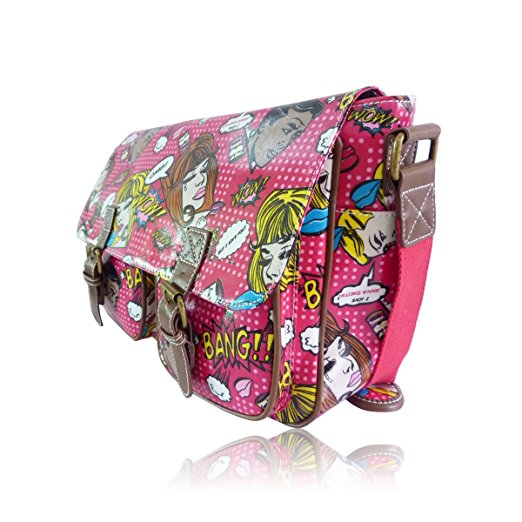 dfc7c3a95e50 Anna Smith Comic Owl Pop Art Satchel Style Messenger Shoulder Bag Various  Colours
