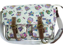 Cartoon Owl Pale Pink Anna Smith LYDC Saddle Bag Satchel Bag School Bag
