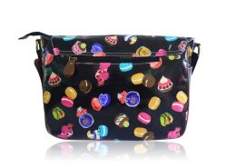 Ladies Anna Smith mixed cakes Oilcloth Messenger Bag Saddle Bag School Handbag