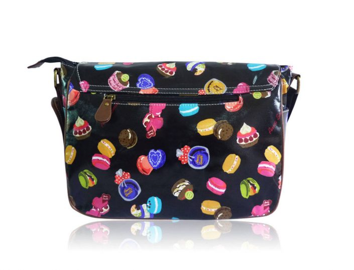 Ladies Anna Smith mixed cakes Oilcloth Messenger Bag Saddle Bag School Handbag