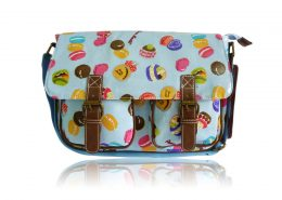 Ladies Anna Smith Cupcakes Cakes Messenger Bag Saddle Bag School Bag Handbag