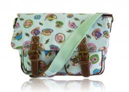 adies Anna Smith Teacup Tea Party Messenger Bag Saddle Bag School Bag Handbag