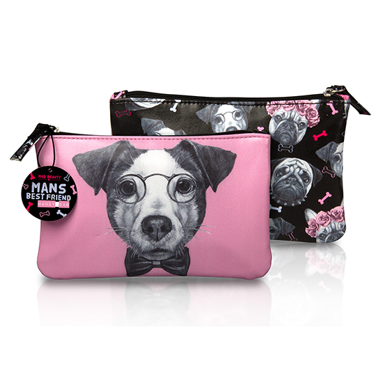 Mad beauty dogs handy bag - jack russell pink
