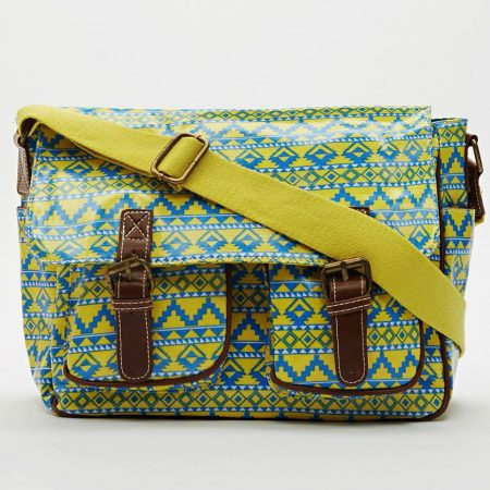 aztec-print-satchel-bag-yellow