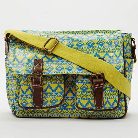 aztec-print-satchel-bag-yellow