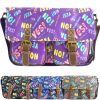 Ladies Anna Smith Yes No Comic Print Messenger Bag Saddle Bag School Bag Handbag