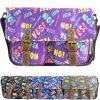 Ladies Anna Smith Yes No Comic Print Messenger Bag Saddle Bag School Bag Handbag