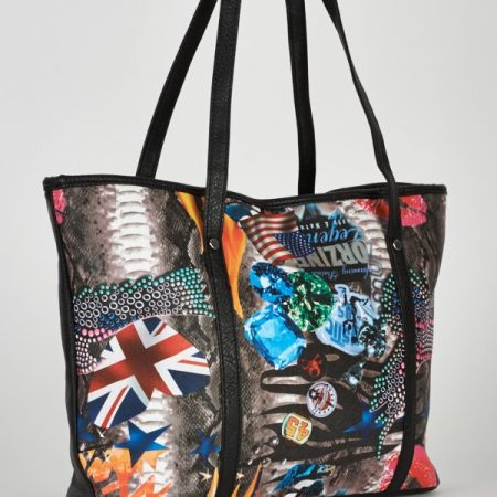 Multi Design Shopper Bag