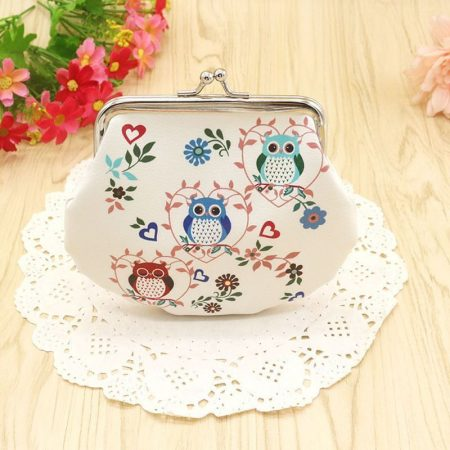 Birthday Wallet Coin Owl Cute Keys Gift PU Leather Changes Kids Purse