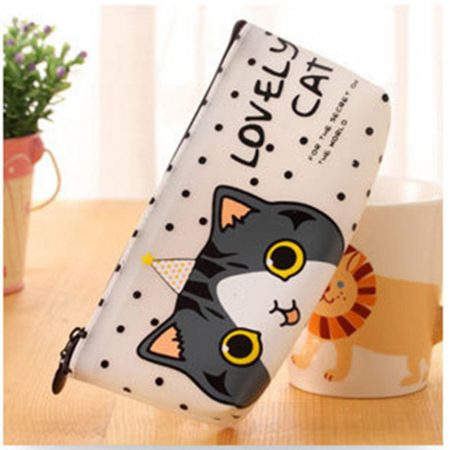 Cute Cat Accessory Cosmetic Toiletry Make Up Holder Case Bag Pouch Organizer
