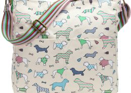 a-dog-print-canvas-crossbody-bag-cream-shoulder-bag-pink-green-dachshund-dogs-across-body-bag