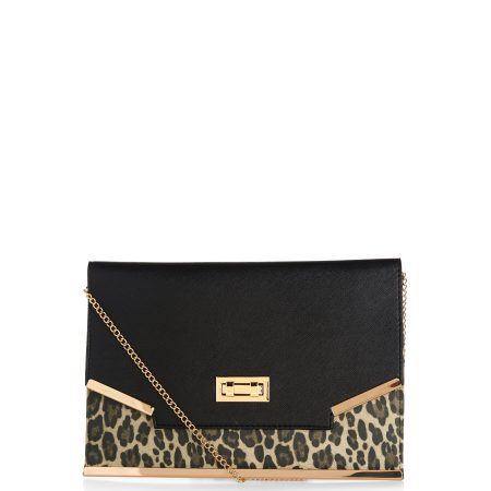 black-leopard-print-panel-clutch-