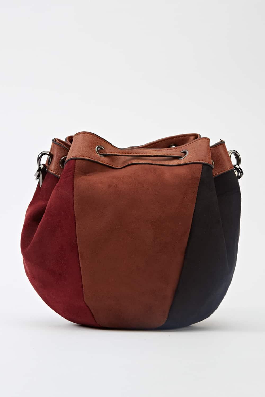 Brown Multi Multi Tone Pouch Bag Handbags School And
