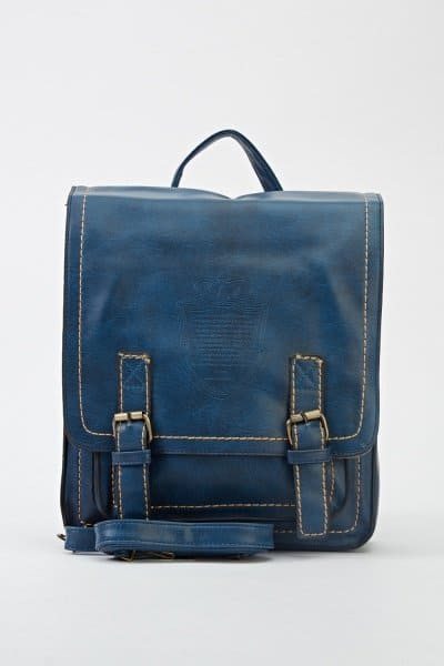 Quitted Dark Blue Blue Backpack