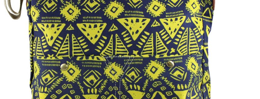 CROSSBODY GEOMETRY NAVY YELLOW