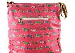 DOG PLUM SHOULDER MESSENGER BAGS CROSSBODY SATCHELS