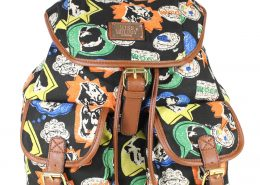 DOGS BLACK MISS MELODY RUCKSACK BACKPACK SCHOOL AND COLLEGE BAGS - GIFTS