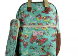 NEW BUTTERFLY GREEN RUCKSACK BACKPACK WITH IPAD CASE COLLEGE SCHOOL BAGS - GIFTS