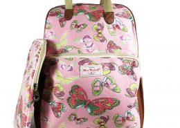 NEW BUTTERFLY PINK RUCKSACK WITH IPAD CASE