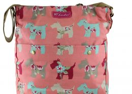 NEW SCOTTIE DOG PINK CANVAS CROSSBODY bags