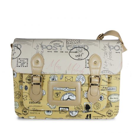 POSTCARD APRICOT SATCHEL CROSSBODY BAGS MESSENGER BAG