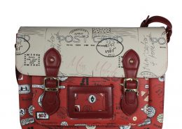 POSTCARD BURGUNDY SATCHEL CROSSBODY