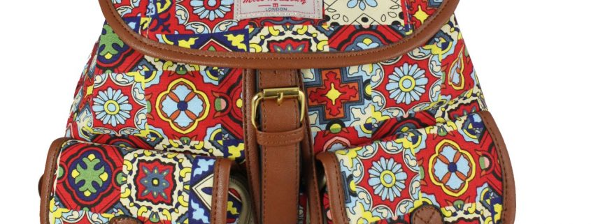 RED NEW AZTEC PRINT RUCKSACK
