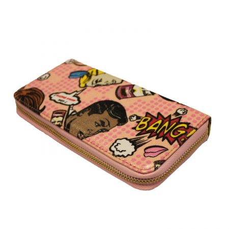 SINGLE ZIP PURSE- BANG PINK