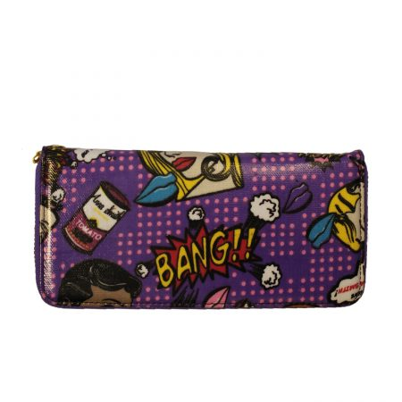 SINGLE ZIP PURSE- BANG PURPLE GIFTS