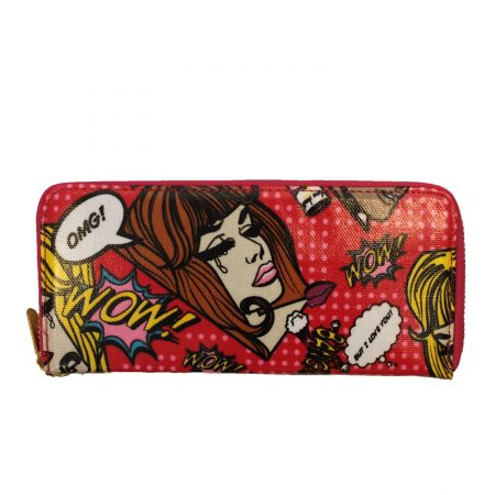 SINGLE ZIP PURSE- BANG ROSE