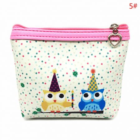 Womens Fashion Mini Owl Wallet Card Holder Case Coin Purse Clutch Handbag Bag two owls