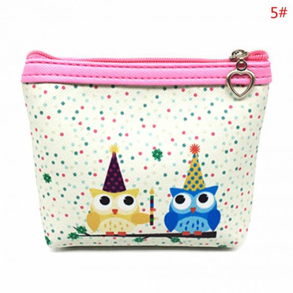 Womens Fashion Mini Owl Wallet Card Holder Case Coin Purse Clutch Handbag Bag two owls
