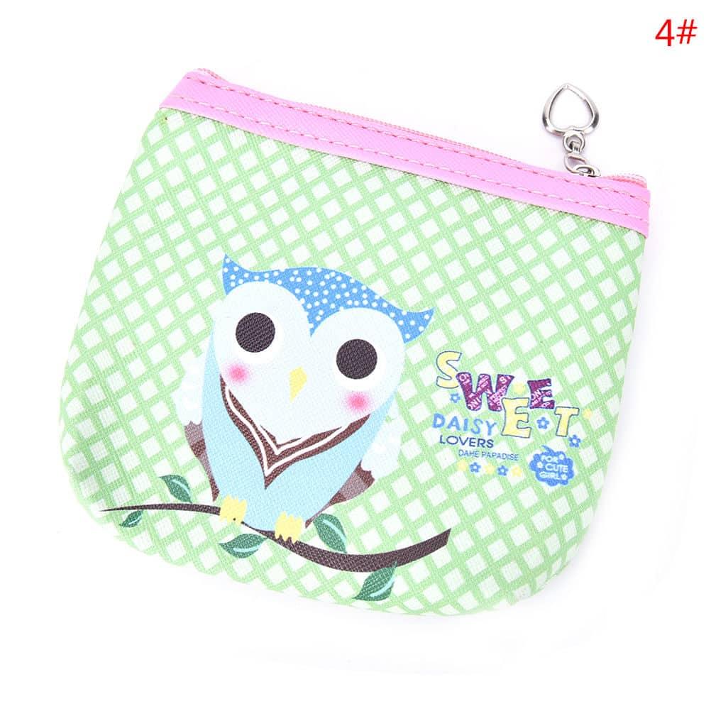 Womens Fashion Mini Owl Wallet Card Holder Case Coin Purse