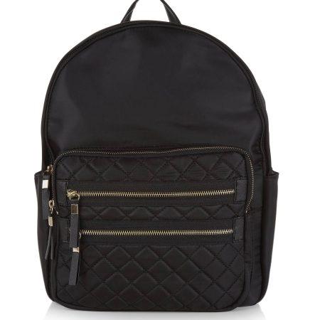 black-quilted-pocket-front-backpack
