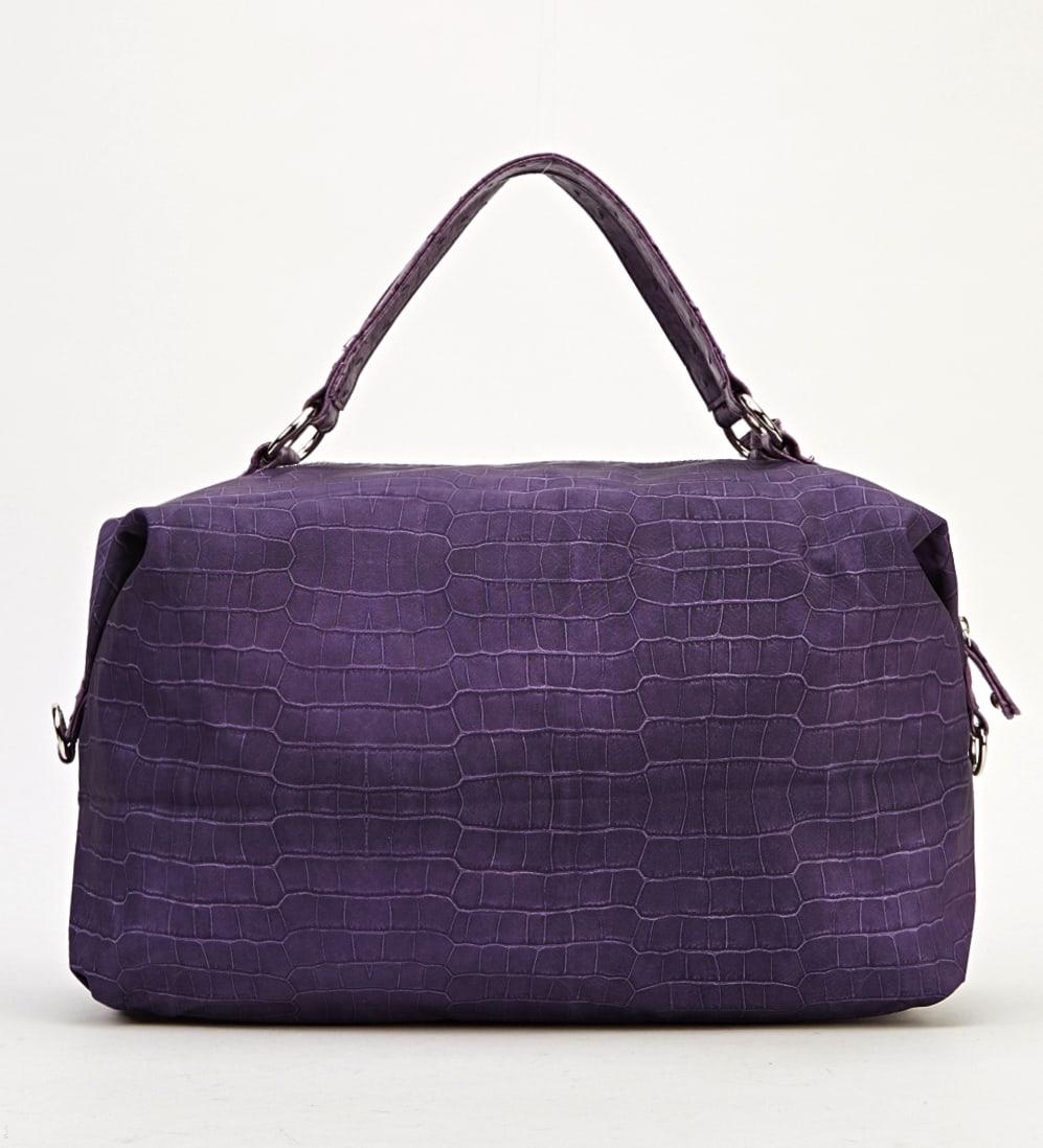 Mock Croc Purple Handbag Bag - Beautiful GIFT - Shoulder Bags - Ladies Handbags UK - Satchels