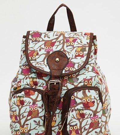 owl-printed-backpack-mint