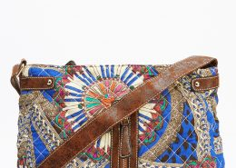 Quilted Mixed Print Crossbody Bag