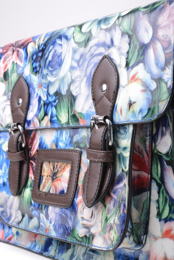 All-Over Floral Print Satchel in Floral