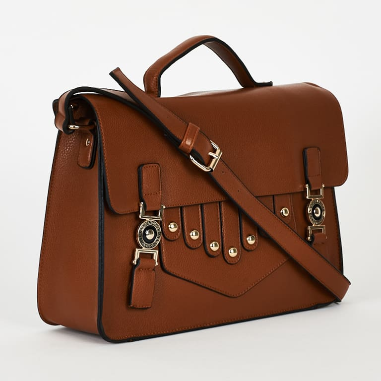 Brown Front Design Smart Satchel