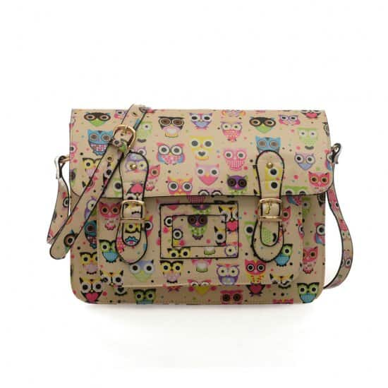 OWL OILCLOTH satchel bags CROSS BODY