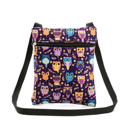 Lovely Flap Shoulder Bag 3D Owl Printed Dacron Messenger Bag Daily Shopping Bag
