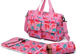 Baby Nappy Diaper Changing Bag Set PINK